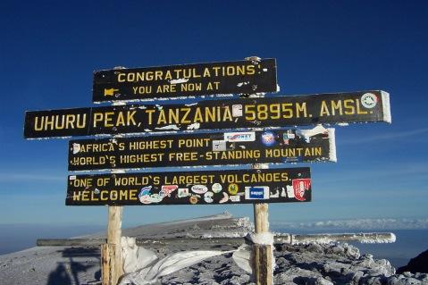 Kilimanjaro_Uhuru_Peak_Sign