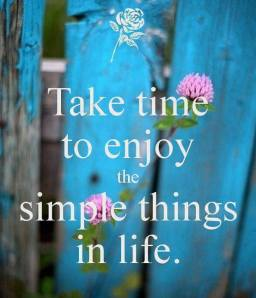 enjoy small things